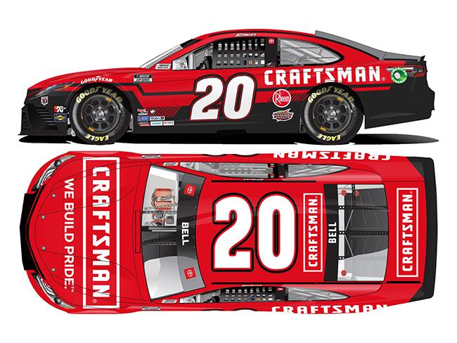 2020 Christopher Bell 1/24th Craftsman hood open car