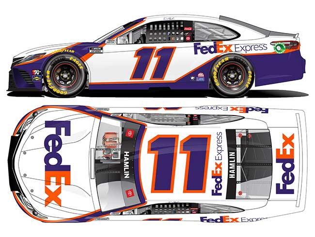 2021 Denny Hamlin 1/64th Fed Ex Express car