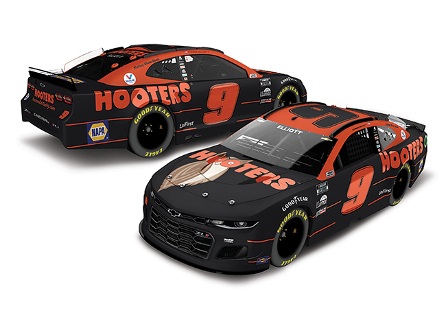 2021 Chase Elliott 1/24th Hooters Elite Car