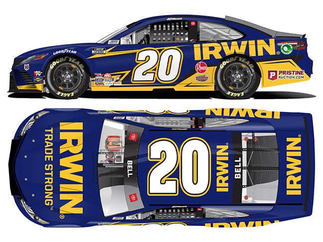 2021 Christopher Bell 1/64th Irwin Tools car