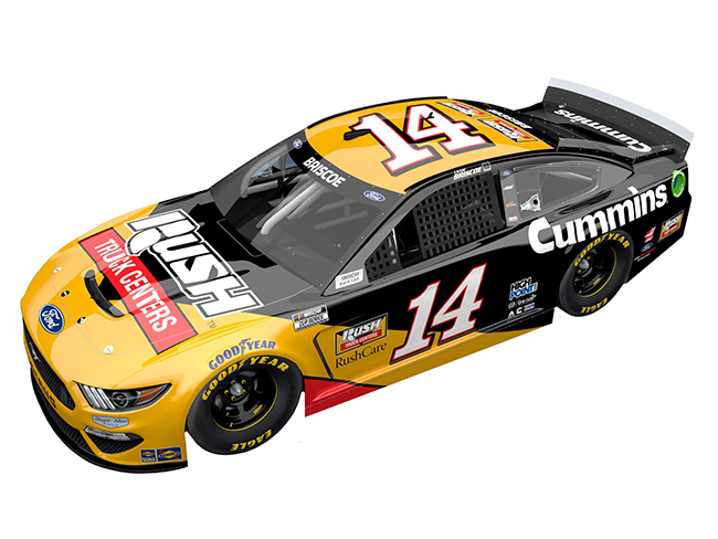 2021 Chase Briscoe 1/64th Rush Truck Centers car