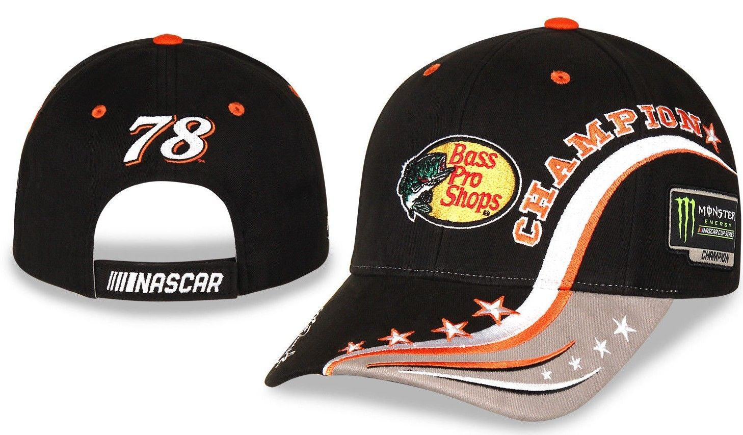 2017 Martin Truex Jr Monster Energy Champion Bass Pro Element hat