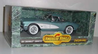 1961 1/18th Chrevrolet Corvette by Ertl Collectibles