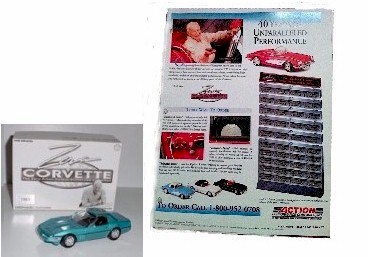 1994 Zora Corvette 1/32nd 40th Anniversary 40 Car Numbered Set by Action