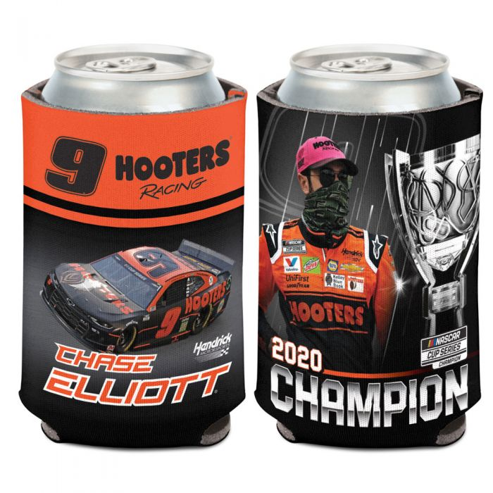 """2020 Chase Elliott Hooters """"Monster Energy Champion"""" can cooler"""