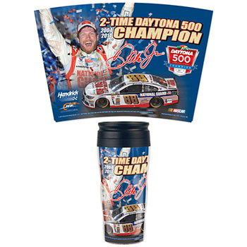 "2014 Dale Earnhardt Jr National Guard ""Daytona 500 Win"" 16 oz Travel Mug"