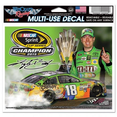 "2015 Kyle Busch M&M's ""Sprint Cup Champion"" 4X4 Decal"