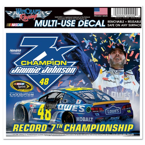 2016 Jimmie Johnson Lowe's 7-Time Champion Multi Use Decal
