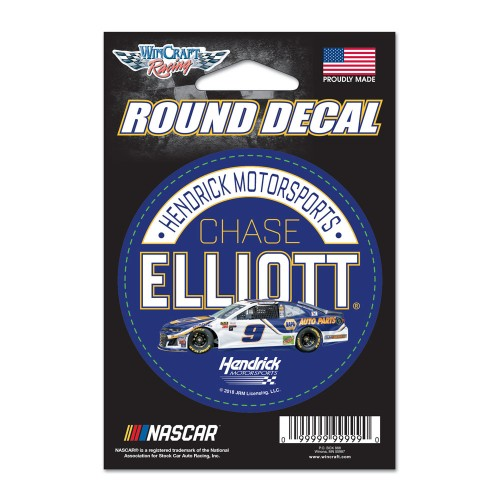 "2018 Chase Elliott Napa 3"" round decal"