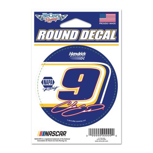 """2019 Chase Elliott NAPA 3"""" round decal"""