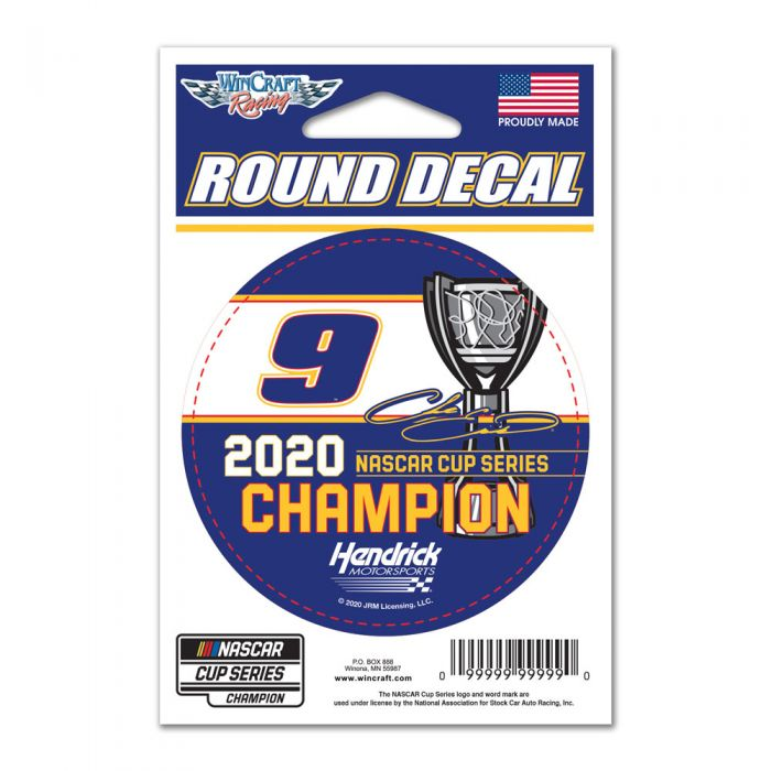 "2020 Chase Elliott NAPA ""NASCAR Cup Champion"" 3"" round decal"