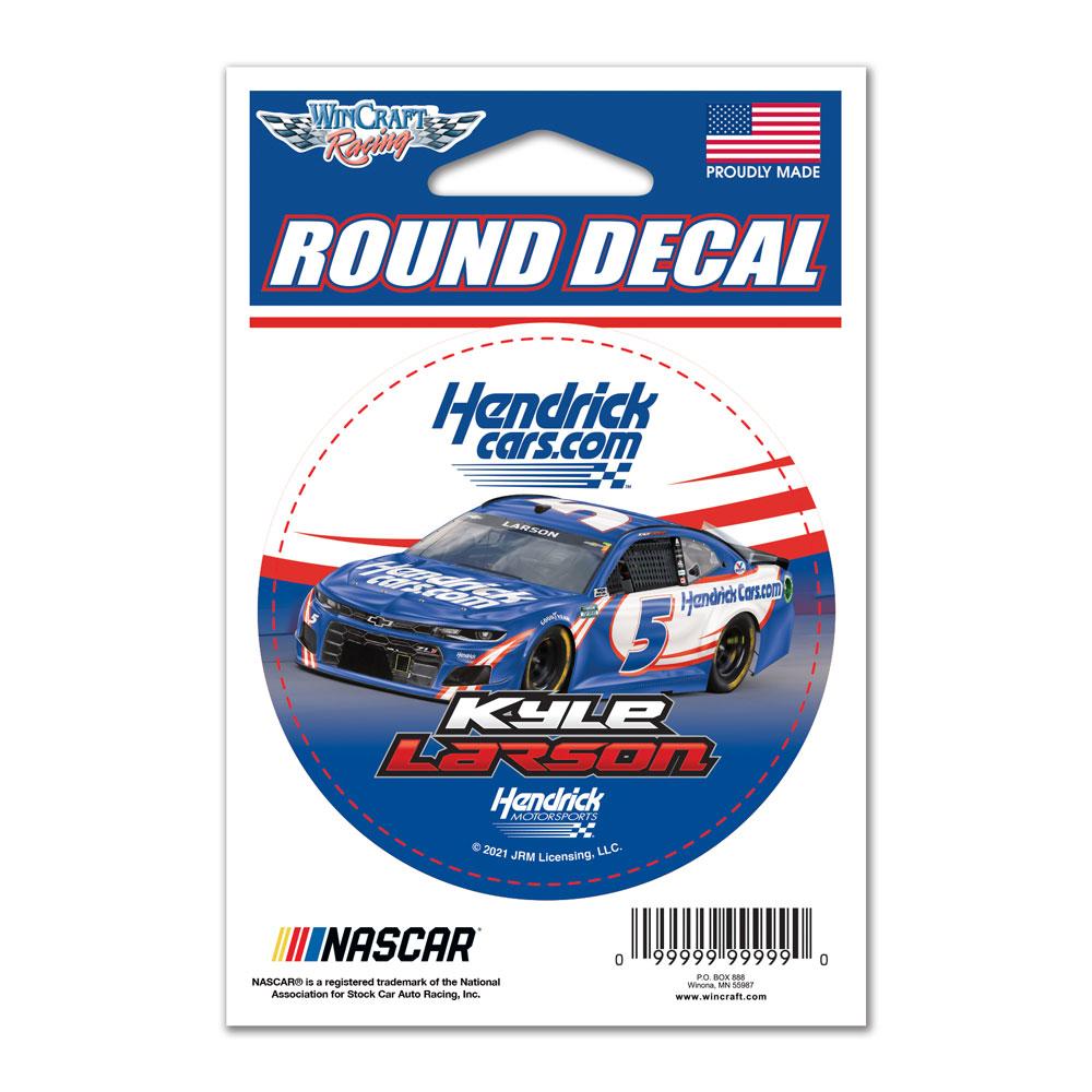 2021 Kyle Larson HendrickCars.com 3 inch round decal