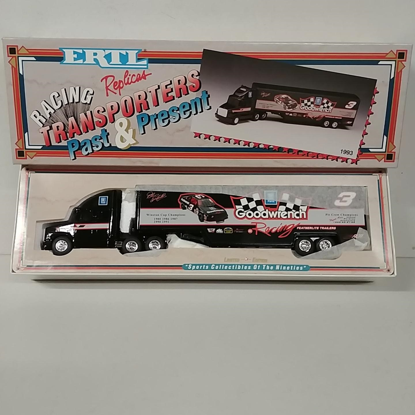 """1993 Dale Earnhardt 1/64th Goodwrench """"5 Time Champion"""" hauler"""