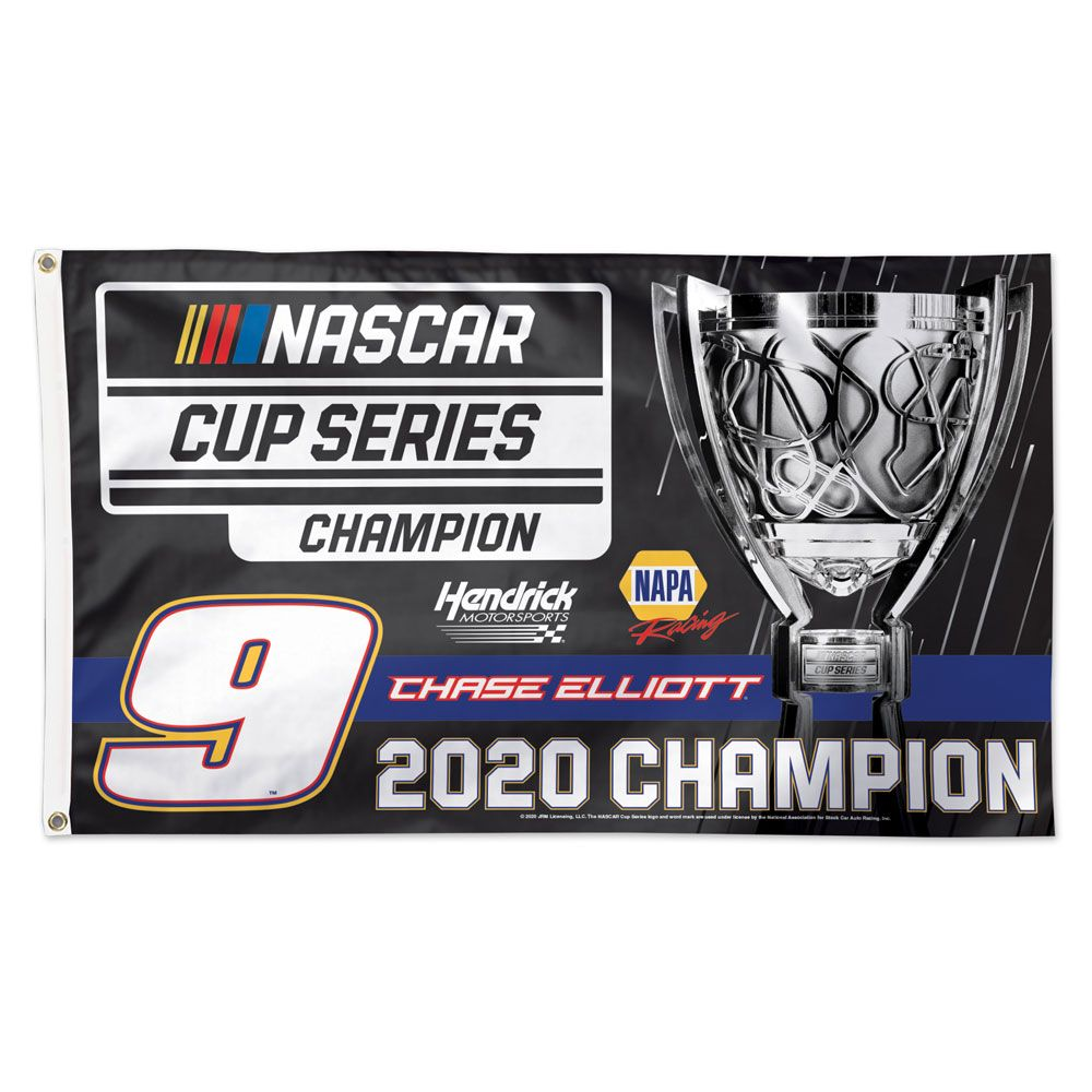 "2020 Chase Elliott NAPA ""NASCAR Cup Champion"" 3x5 flag"