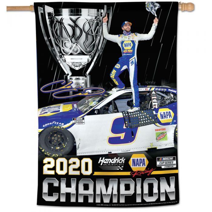 "2020 Chase Elliott NAPA ""NASCAR Cup  Champion"" pole flag"
