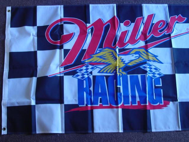 1997 Miller Racing flag/banner