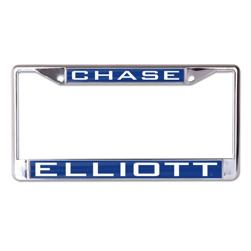 2019 Chase Elliott Inlaid Metal License Plate Frame