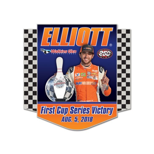 2018 Chase Elliott SunEnergy1 First Win Hatpin
