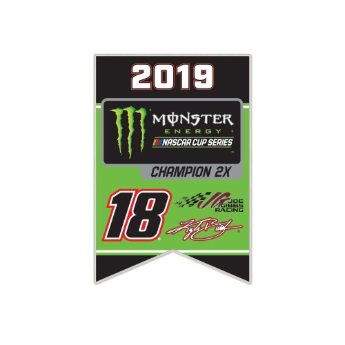2019 Kyle Busch Monster Energy Series Champion collector pin