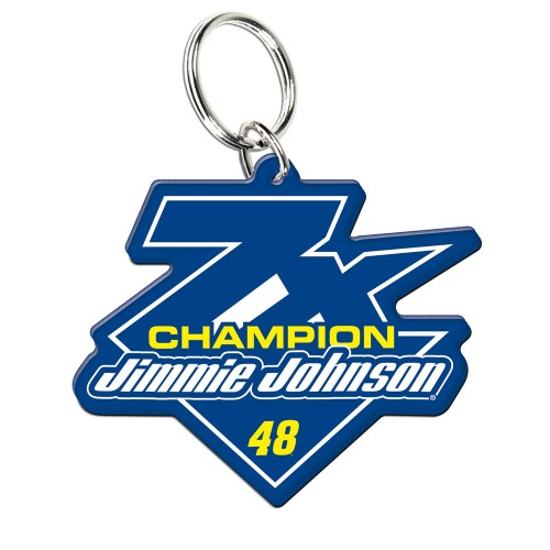 2016 Jimmie Johnson Lowe's 7-Time Champion Acrylic Key Ring Prem-Mirrored