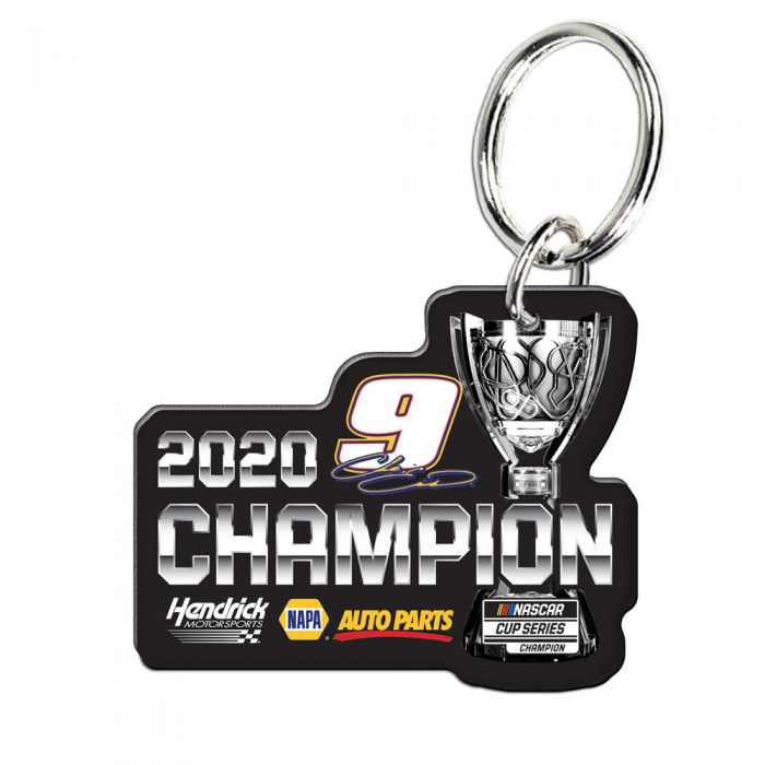 "2020 Chase Elliott NAPA "" NASCAR Cup Champion"" Acrylic Key Ring Prem-Mirrored"