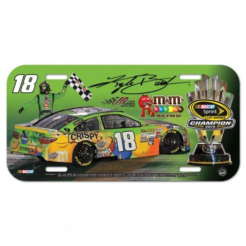 "2015 Kyle Busch M&M's ""Sprint Cup Series"" Champion Plastic License Plate"