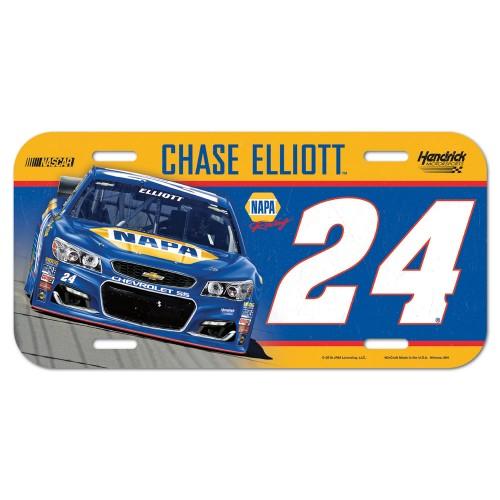2016 Chase Elliott NAPA plastic license plate
