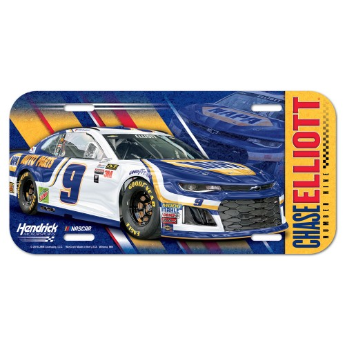2018 Chase Elliott Napa license plate
