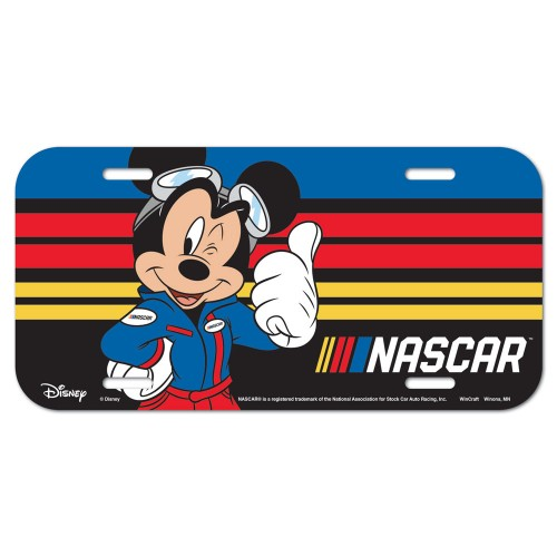 2019 Mickey NASCAR plastic license plate