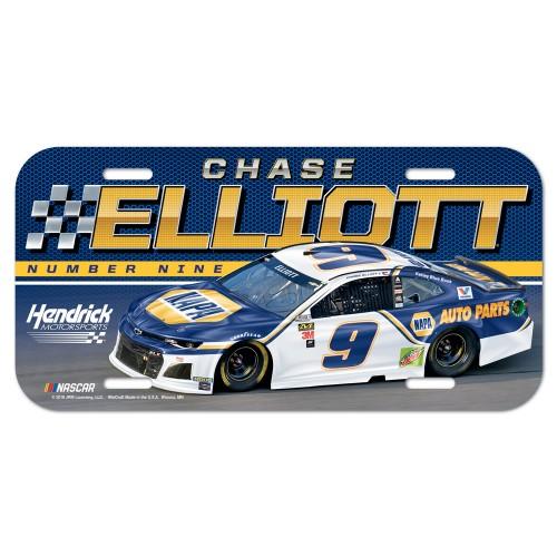 2019 Chase Elliott NAPA plastic license plate