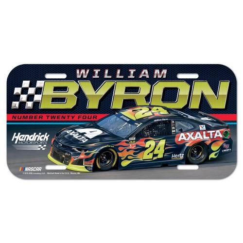 2019 William Bryon Axalta plastic license plate