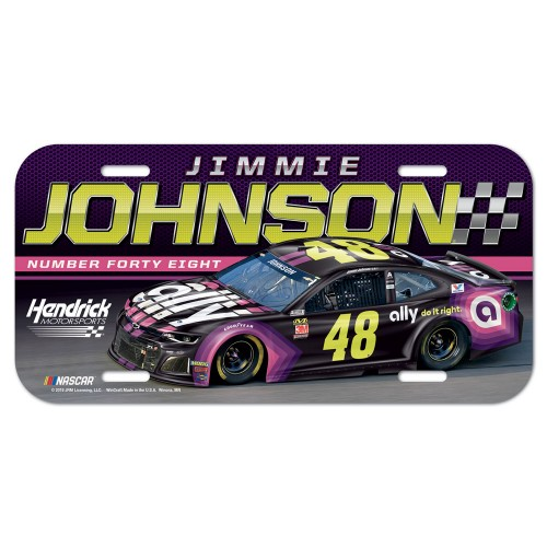 2019 Jimmie Johnson ally plastic license plate
