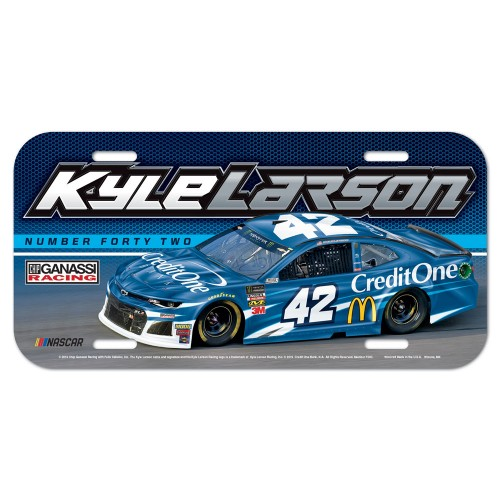 2019 Kyle Larson Credit One plastic license plate