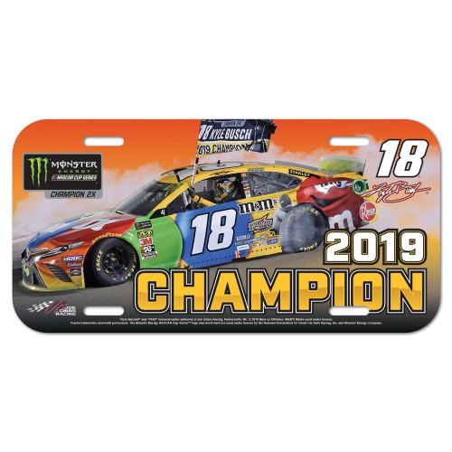 2019 Kyle Busch Monster Energy Series Champion plastic license plate