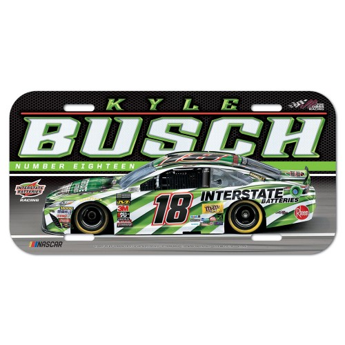 2019 Kyle Busch Interstate Batteries plastic license plate