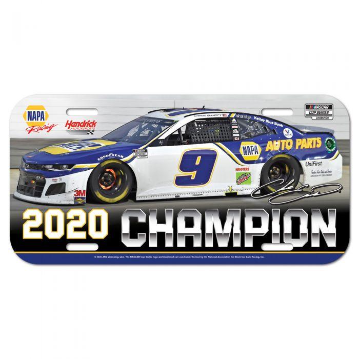 """2020 Chase Elliott NAPA """"Monster Energy Champion"""" plastic license plate"""