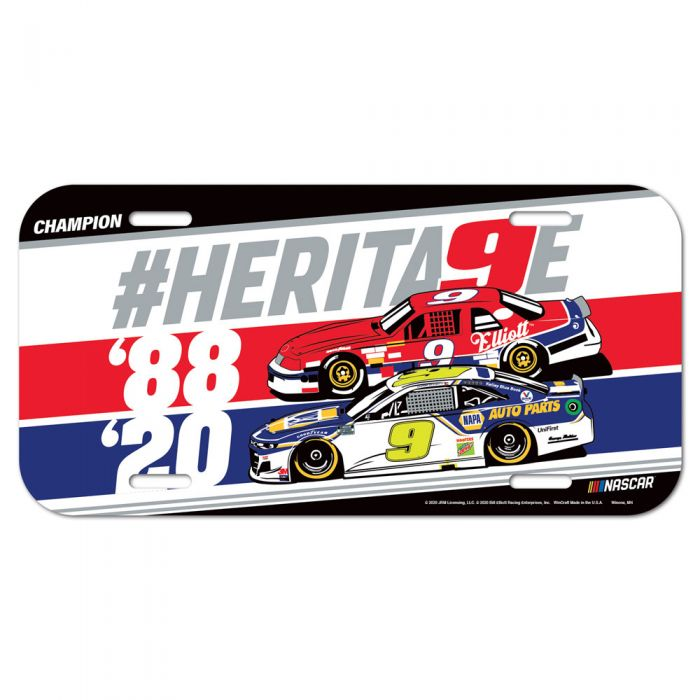 """2020 Chase and Bill Elliott """"Heritage Champions"""" license plate"""