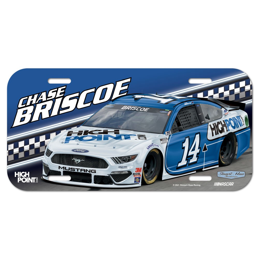 2021 Chase Briscoe High Point plastic license plate