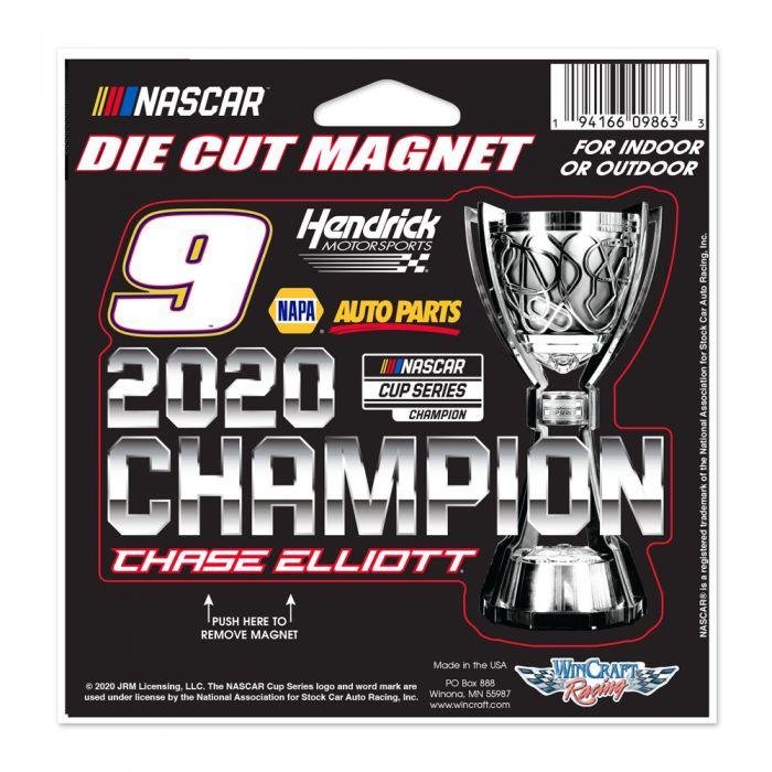 """2020 Chase Elliott NAPA """"Monster Energy Champion"""" Die Cut Magnet"""