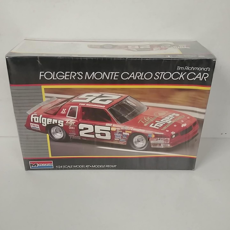 1986 Tim Richmond 1/24th Folgers Monte Carlo model kit by Monogram