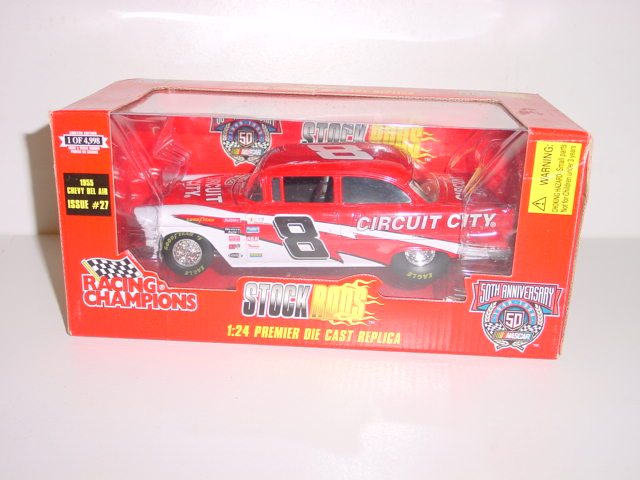 1955 Hut Stricklin 1/24th Circuit City Chevy Belair Stock Rod