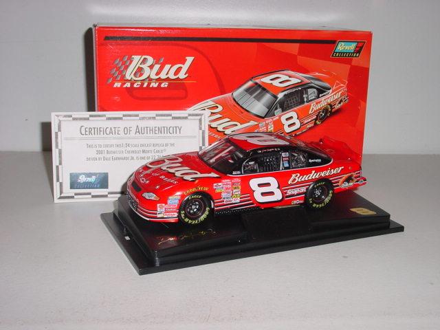 2001 Dale Earnhardt Jr 1/24 Budweiser c/w car