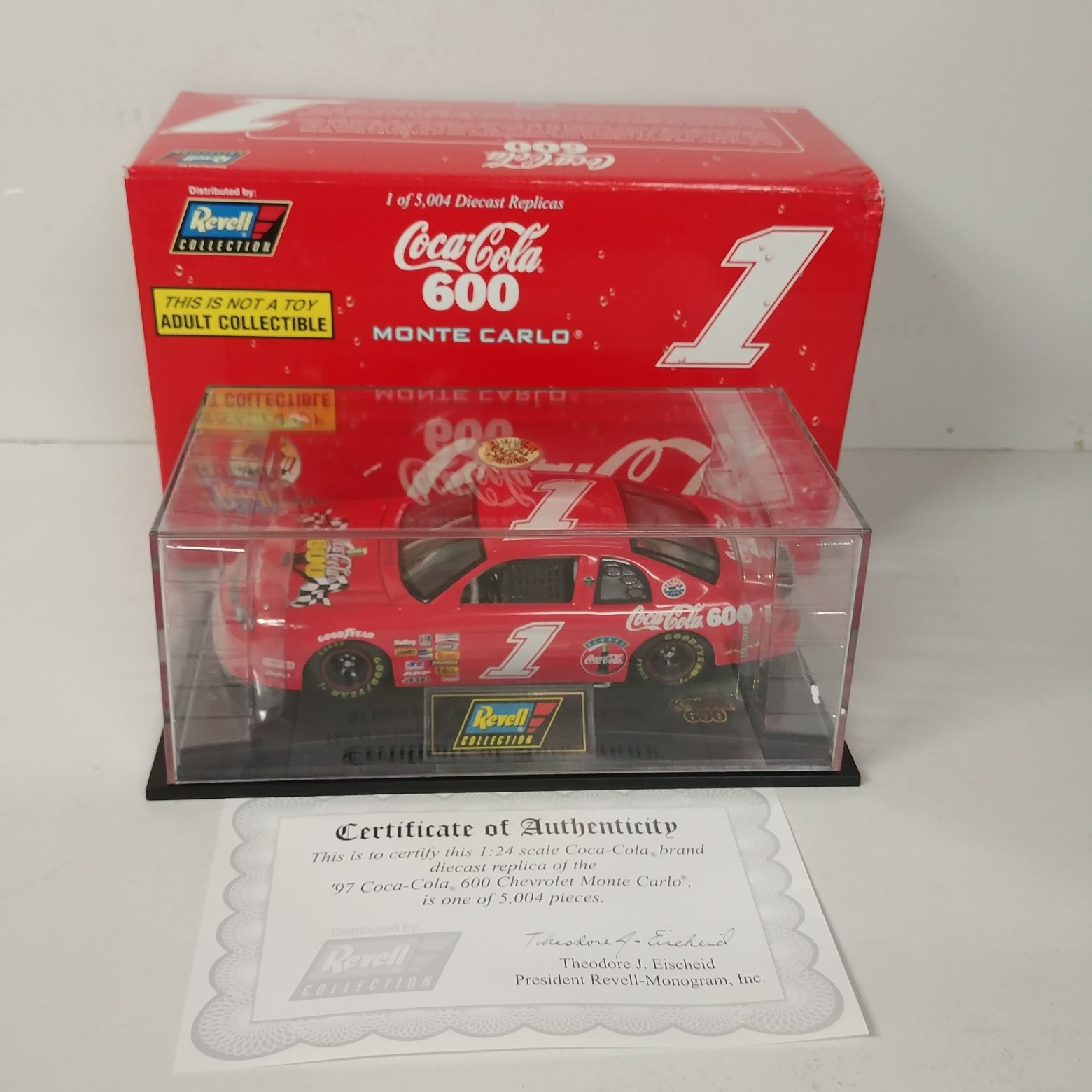 1997 Coca-Cola 1/24th Coke 600 c/w car