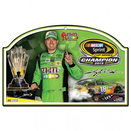 "2015 Kyle Busch M&M's ""Sprint Cup Champion"" Wood Sign"