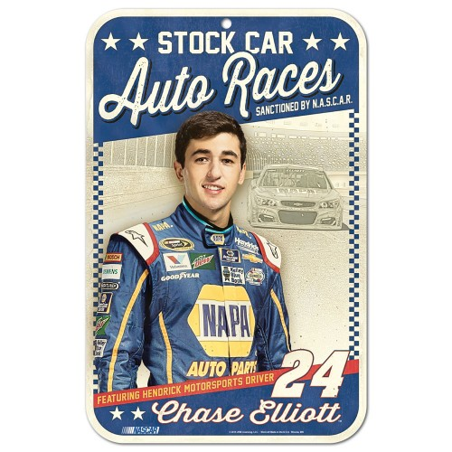 "2016 Chase Elliott Vintage ""Stock Car Auto Races"" sign"