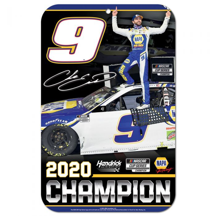 "2020 Chase Elliott NAPA ""NASCAR Cup Champion"" plastic sign"