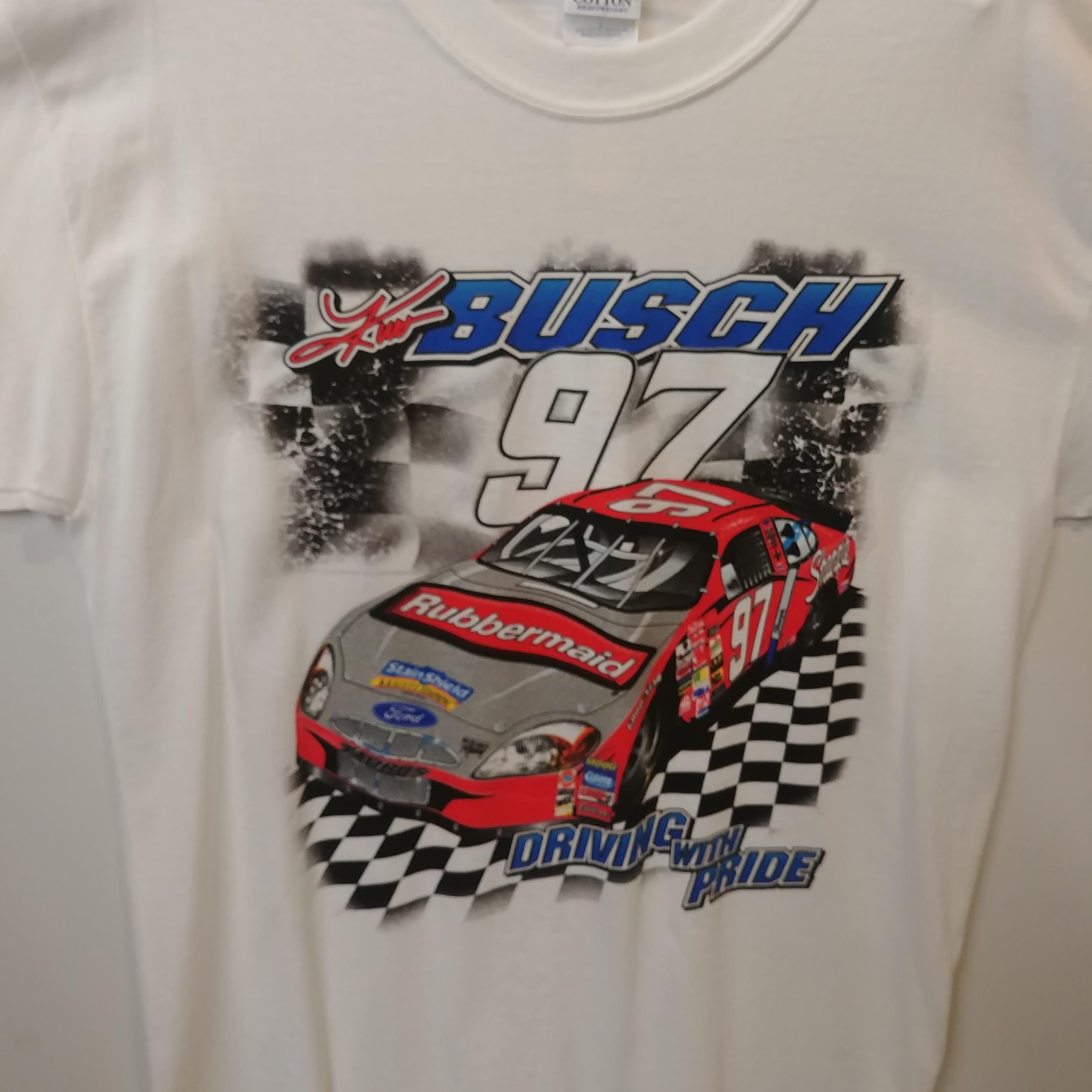 "2003 Kurt Busch Rubbermaid/Sharpie ""Driven with Pride"" tee"