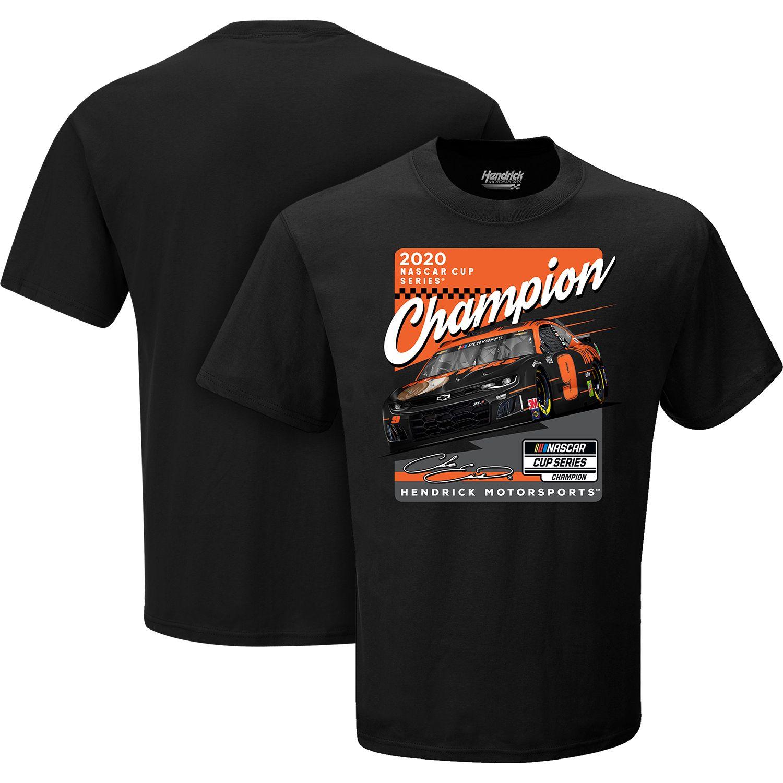 "2020 Chase Elliott Hooters ""NASCAR Cup Champion"" black 1 spot tee"