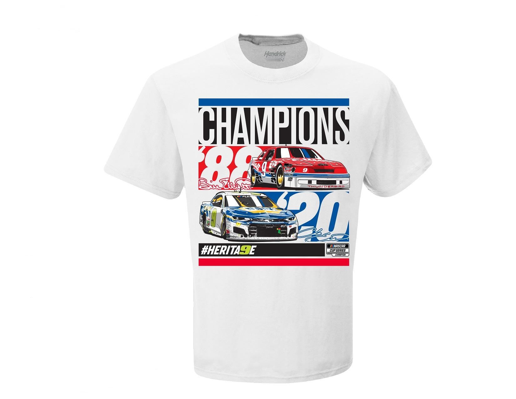 """2020 Bill and Chase Elliott """"Champions"""" one sided tee"""