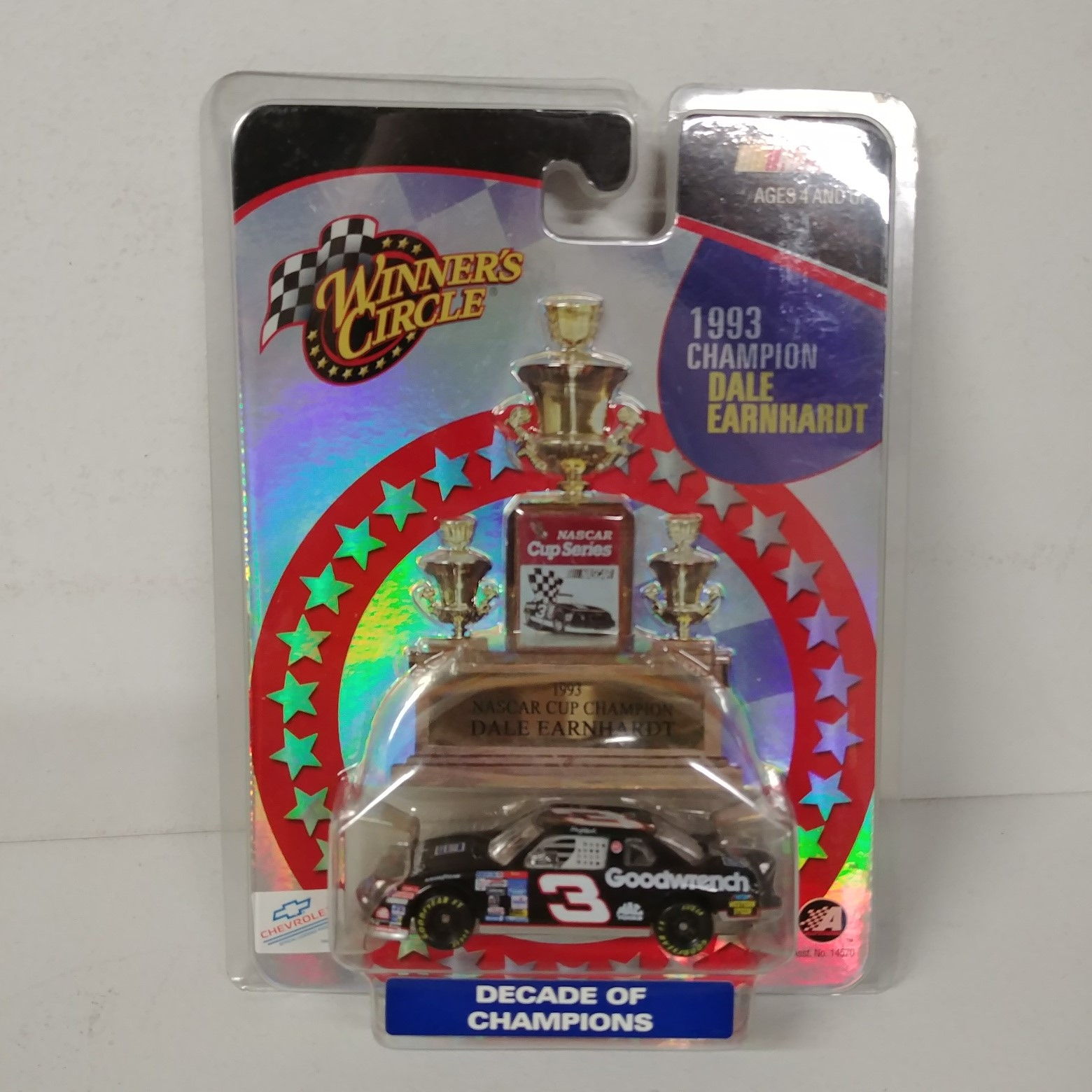 """1993 Dale Earnhardt 1/64th GM Goodwrench """"Winston Cup Champion"""" car"""